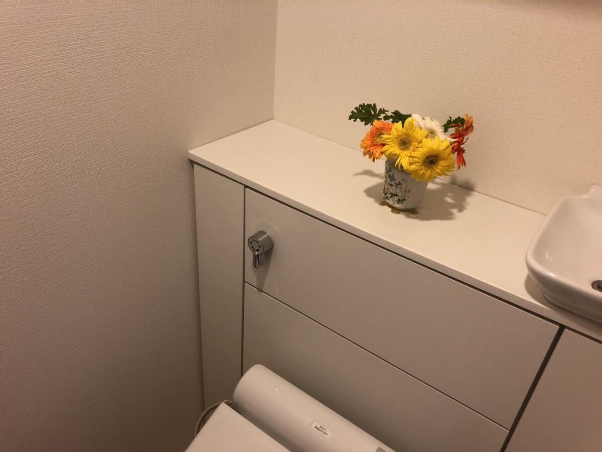 トイレに飾ったお花