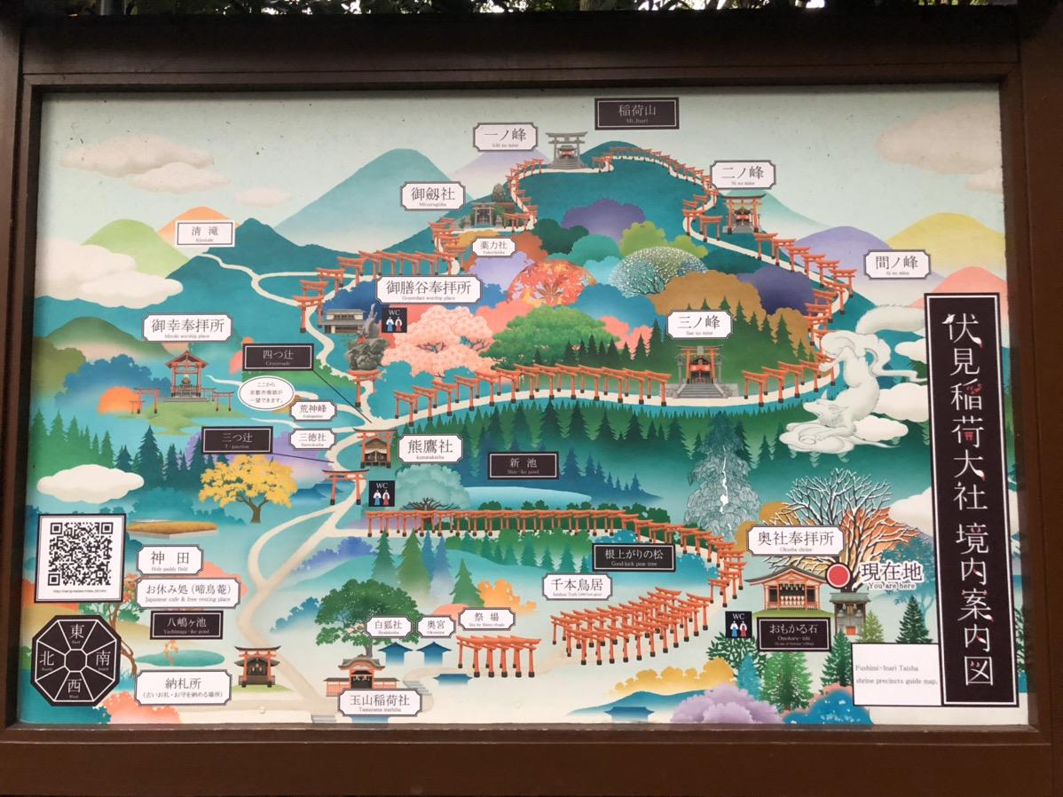 伏見稲荷大社 境内案内図