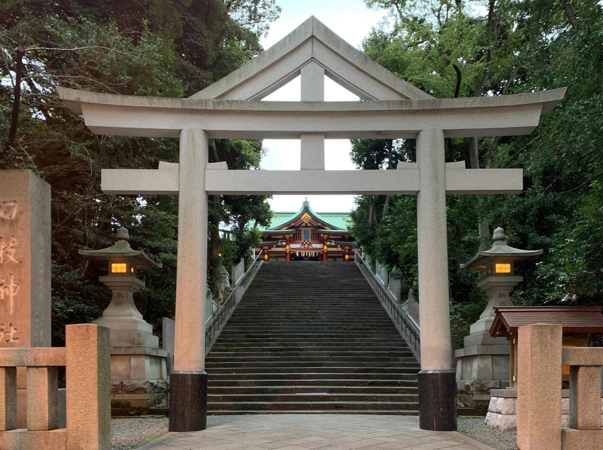 日枝神社 山王男坂の山王鳥居