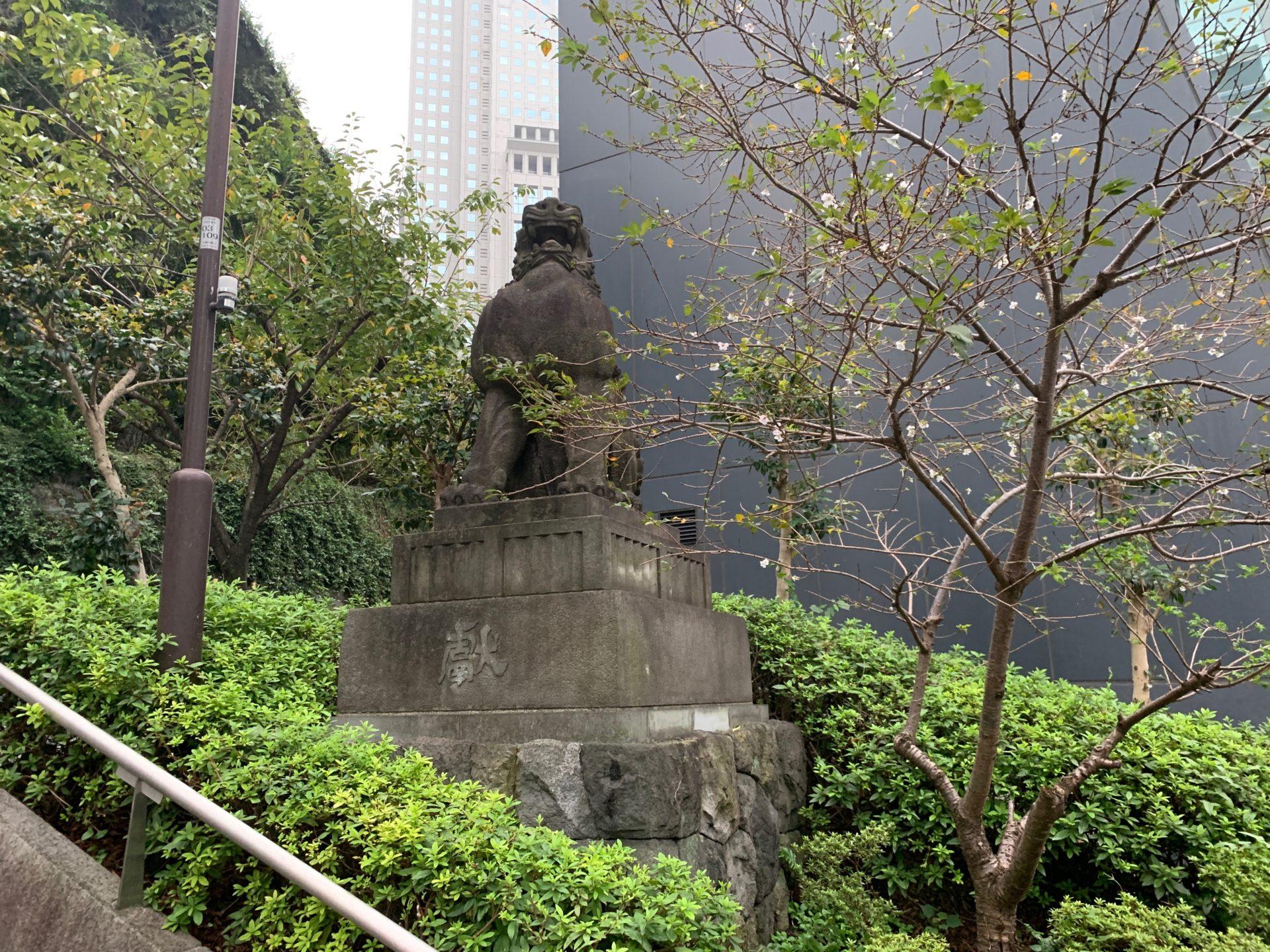 日枝神社の狛犬 阿像