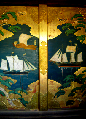 船玉神社の扉絵