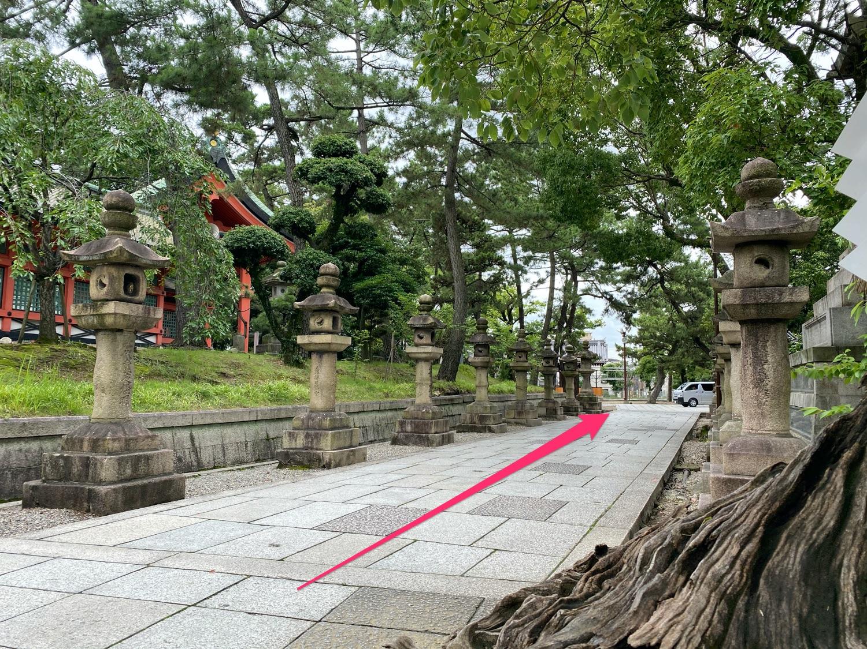 船玉神社への道