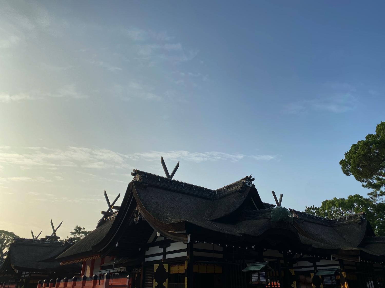 住吉大社本宮の千木