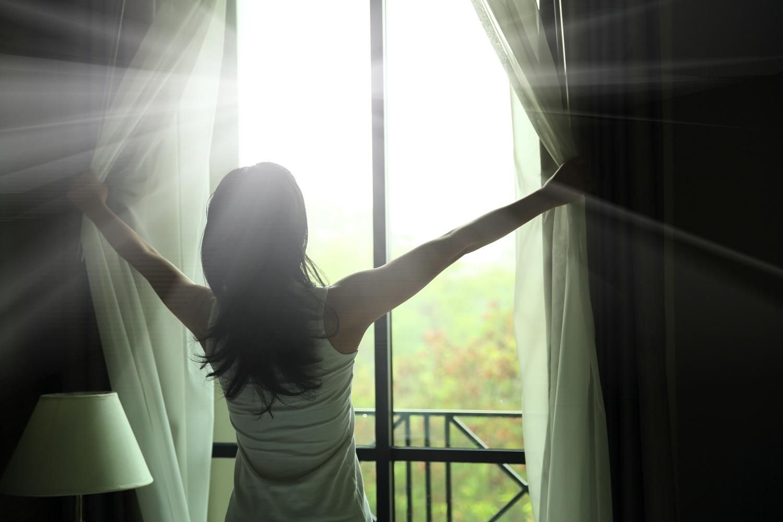 太陽を拝む
